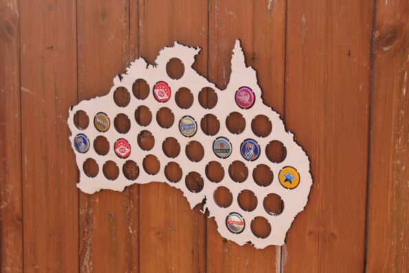 Australia Beer Cap Map Bottle Cap Map Collection Beer Cap Gift Art