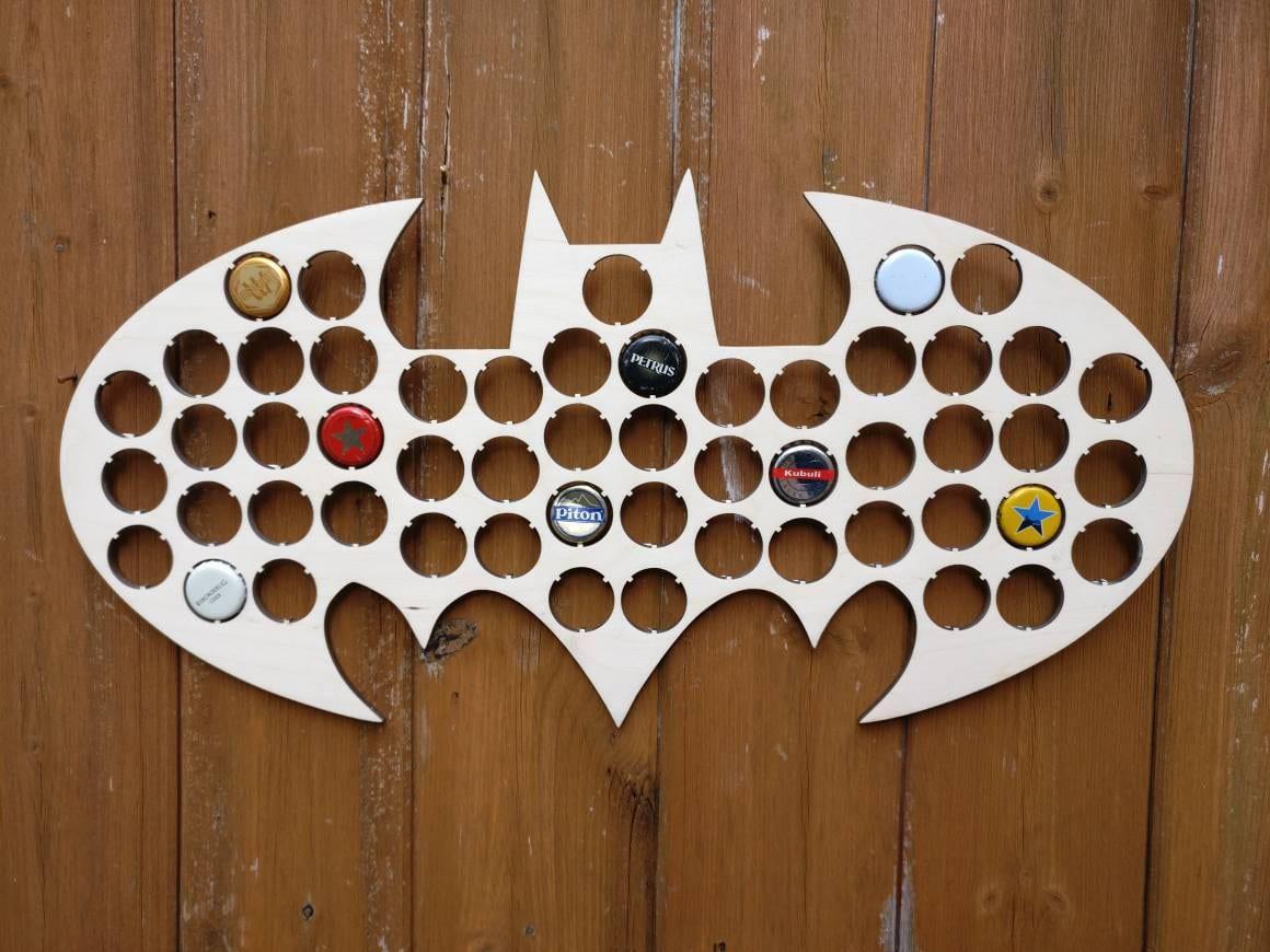 Batman Bottle Cap Holder Bat Cave Collection Gift Art Gift for Him