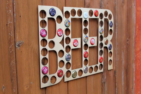 Beer Lettering Beer Cap Collection Beer Word Gift Art Letters