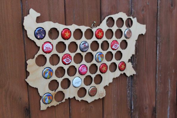 Bulgaria Beer Cap Map Bottle Cap Map Collection Gift Art