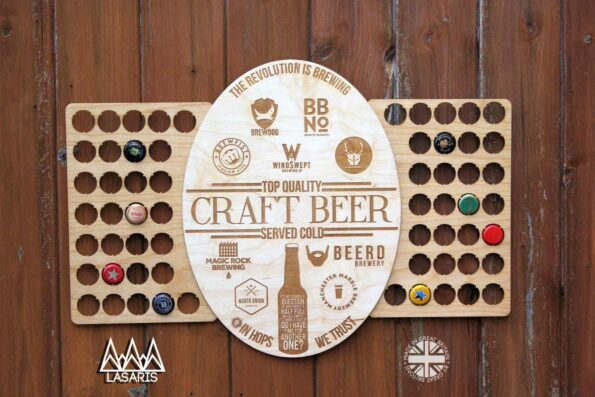 Craft Beer Bottle Cap Collection Beer Cap Gift Art Breweries Gift for Him