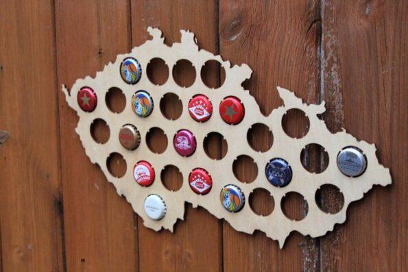 Czech Republic Beer Cap Map Bottle Cap Map Collection Gift Art