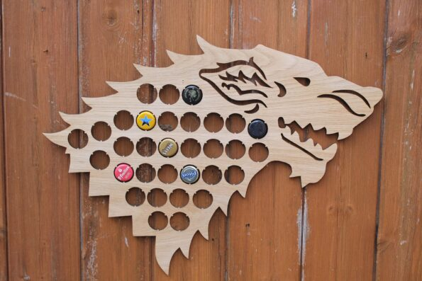 Dire Wolf Bottle Cap Holder Map Collection Beer Cap Gift for Him