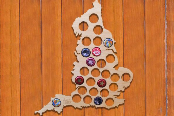 England Beer Cap Map Bottle Cap Map Collection Gift Art
