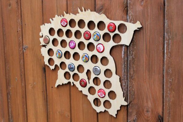 Estonia Beer Cap Map Bottle Cap Map Collection Gift Art