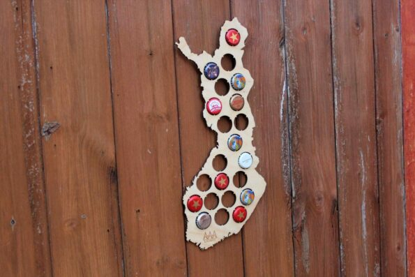 Finland Beer Cap Map Bottle Cap Map Collection Art Gift