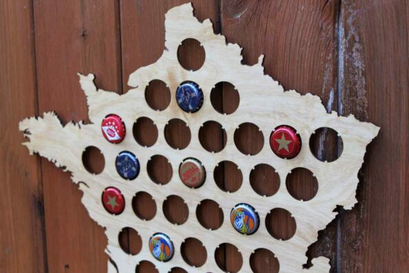 France Beer Cap Map Bottle Cap Map Collection Gift Art