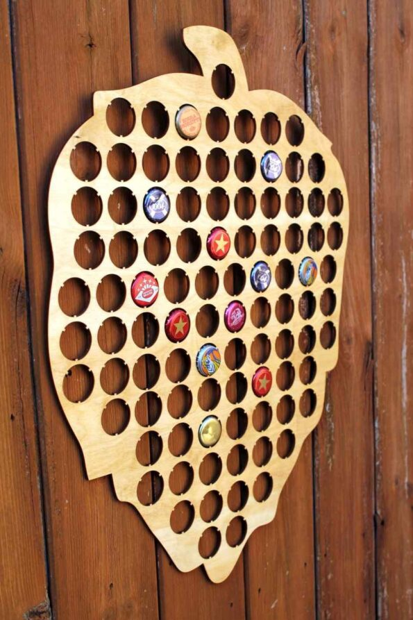 Hops Beer Cap Map Bottle Cap Map Collection Gift Art