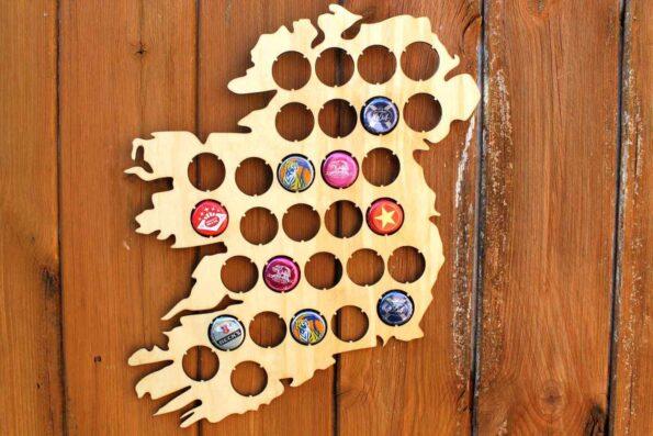 Ireland Beer Cap Map Bottle Cap Map Collection Gift Art
