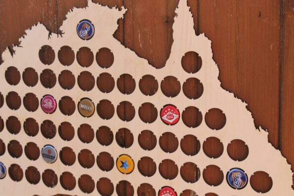 Large Australia Beer Cap Map Large Bottle Cap Holder Collection Gift Art