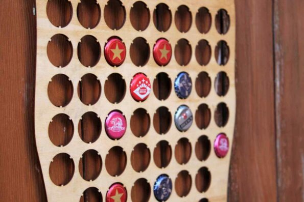 Pint Glass Beer Cap Map Bottle Cap Map Collection Gift Art
