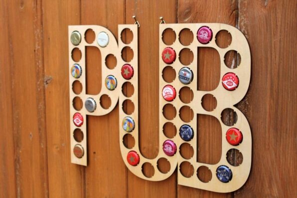 Pub Bottle Cap Collection Beer Cap Map Gift Art