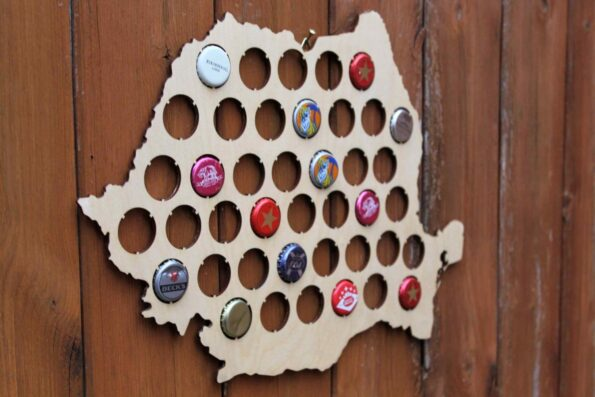 Romania Beer Cap Map Bottle Cap Map Collection Gift Art