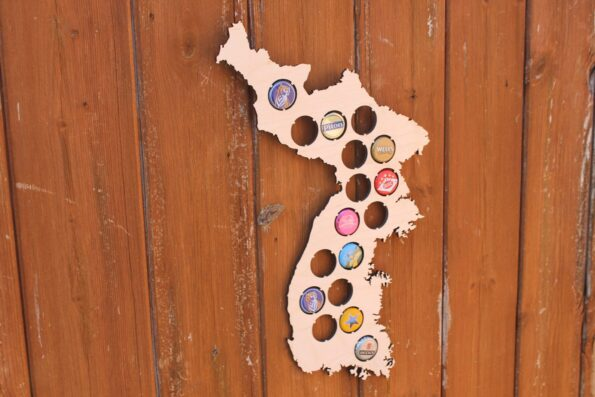 South Korea Beer Cap Map Bottle Cap Map Collection Beer Cap Gift Art