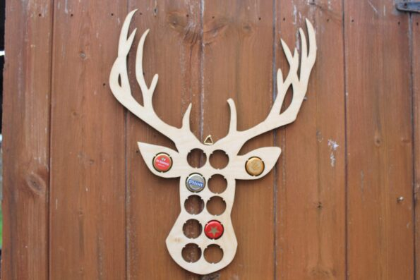 Stag Beer Cap Map Deer Animal Bottle Cap Map Collection Gift Art