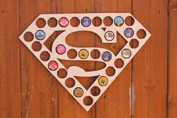 Superman Bottle Cap Holder Bat Cave Collection Gift Art Gift for Him