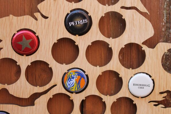 UK Beer Cap Map Bottle Cap Holder Collection Gift Art Gift for Him