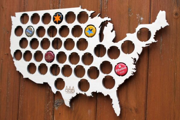 USA Beer Cap Map Bottle Cap Map Collection Beer Cap Gift Art