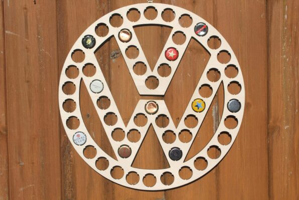 VW Beer Cap Map Volkswagen Bottle Cap Holder Collection Gift Art Gift for Him