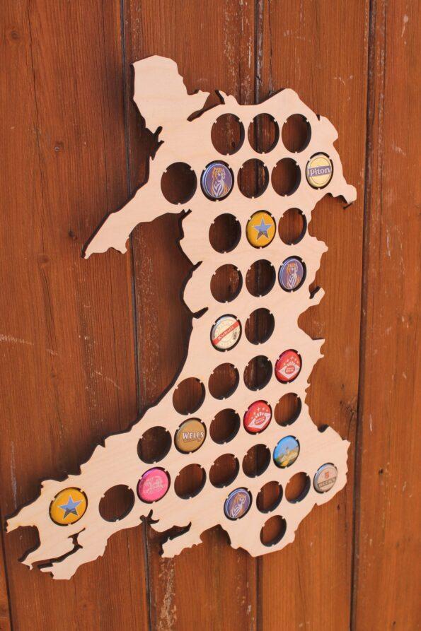Wales Beer Cap Map Bottle Cap Map Collection Beer Cap Gift Art