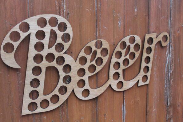 Beer Lettering Beer Cap Collection Beer Word Gift Art Letters