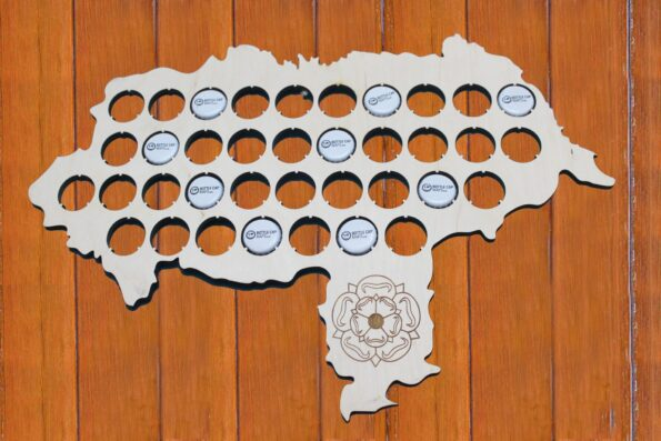 Yorkshire Beer Cap Map Bottle Cap Map Collection Beer Cap Gift for Him